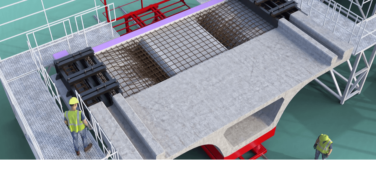 3D animation of the manufacture of voussoirs