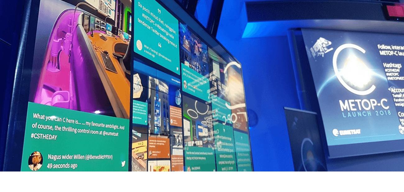 Dispositif digital social wall et hashtag